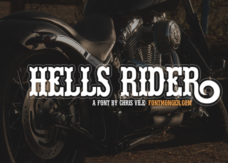 Hell's Rider Font