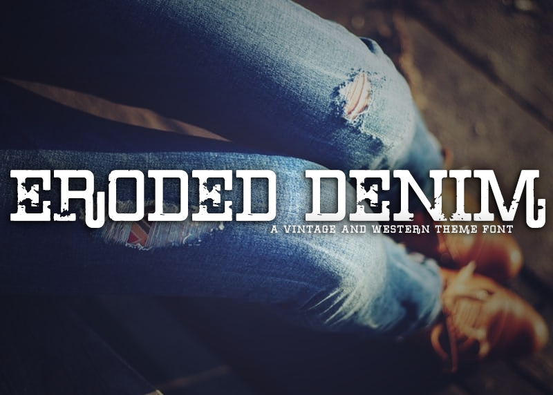 Eroded Denim Font